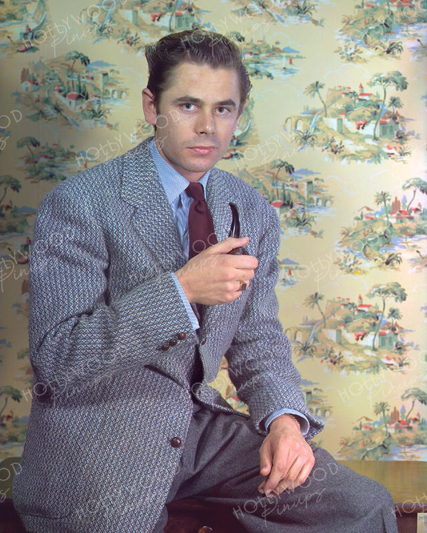 Glenn Ford Smoking Pipe 1941 | Hollywood Pinups | Film Star Colour and B&W Prints