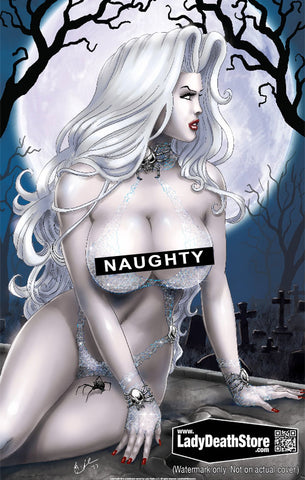 "Lady Death: Naughty Web 11x17"" Print"