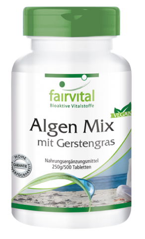 Algen Mix mit Gerstengras - 500 Tabletten