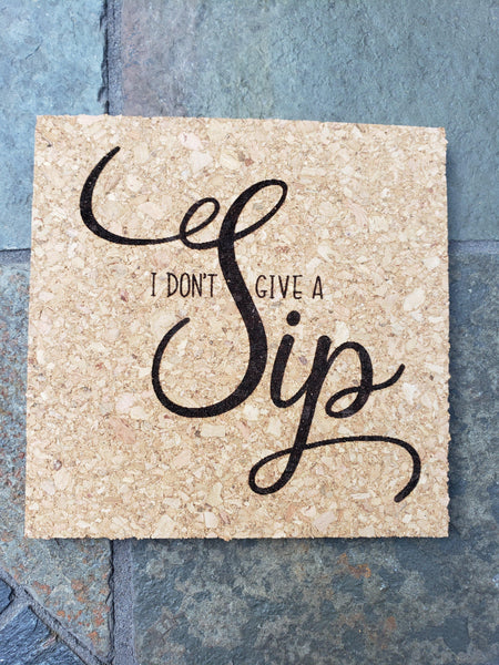 Set of 4 - Fun Wine Coasters - Drifting Purpose