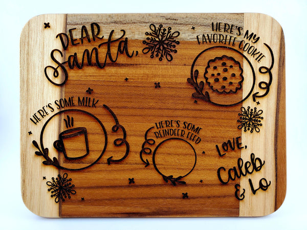 Personalized Santa Cookie Board - Drifting Purpose