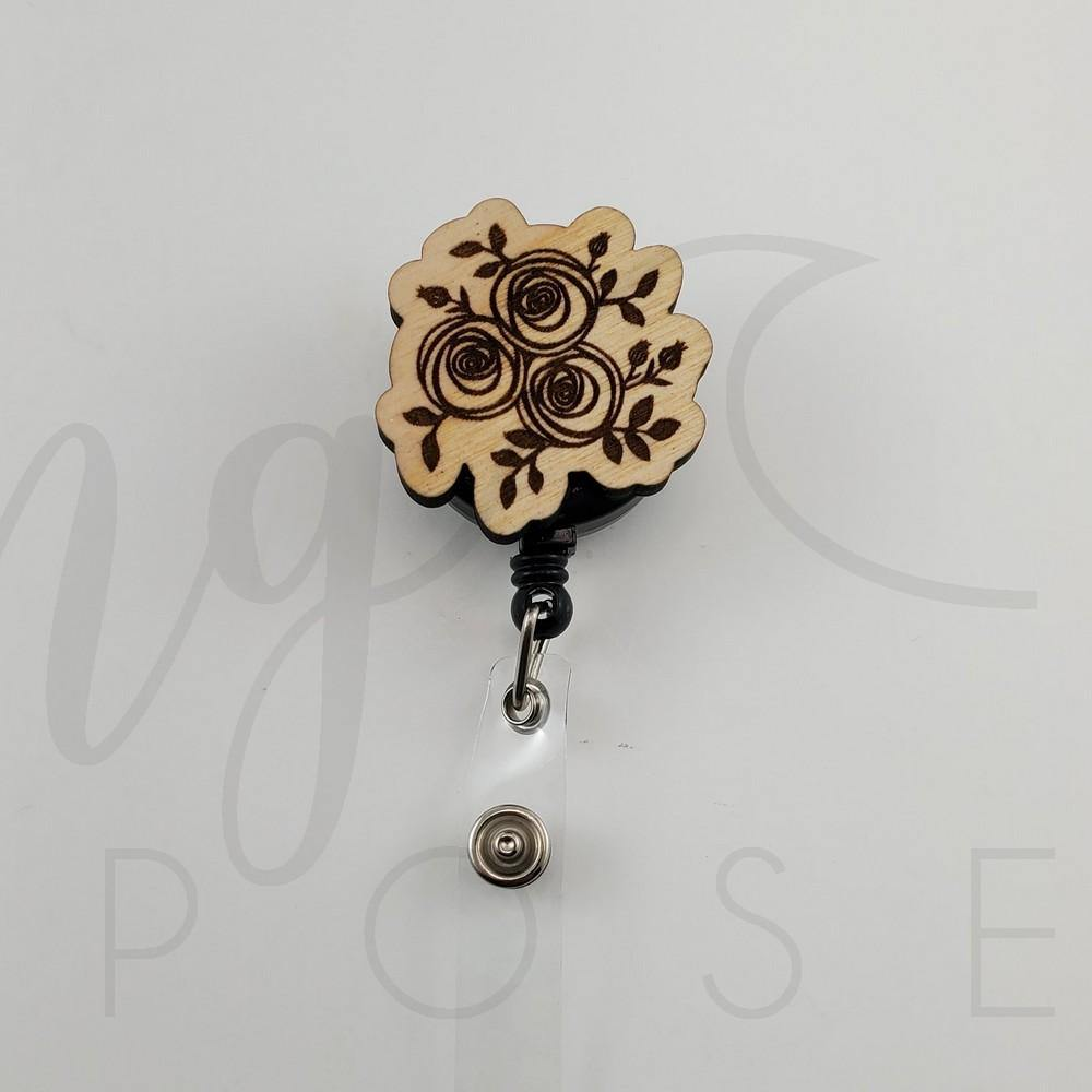 Rose Bouquet Badge Pull - Drifting Purpose