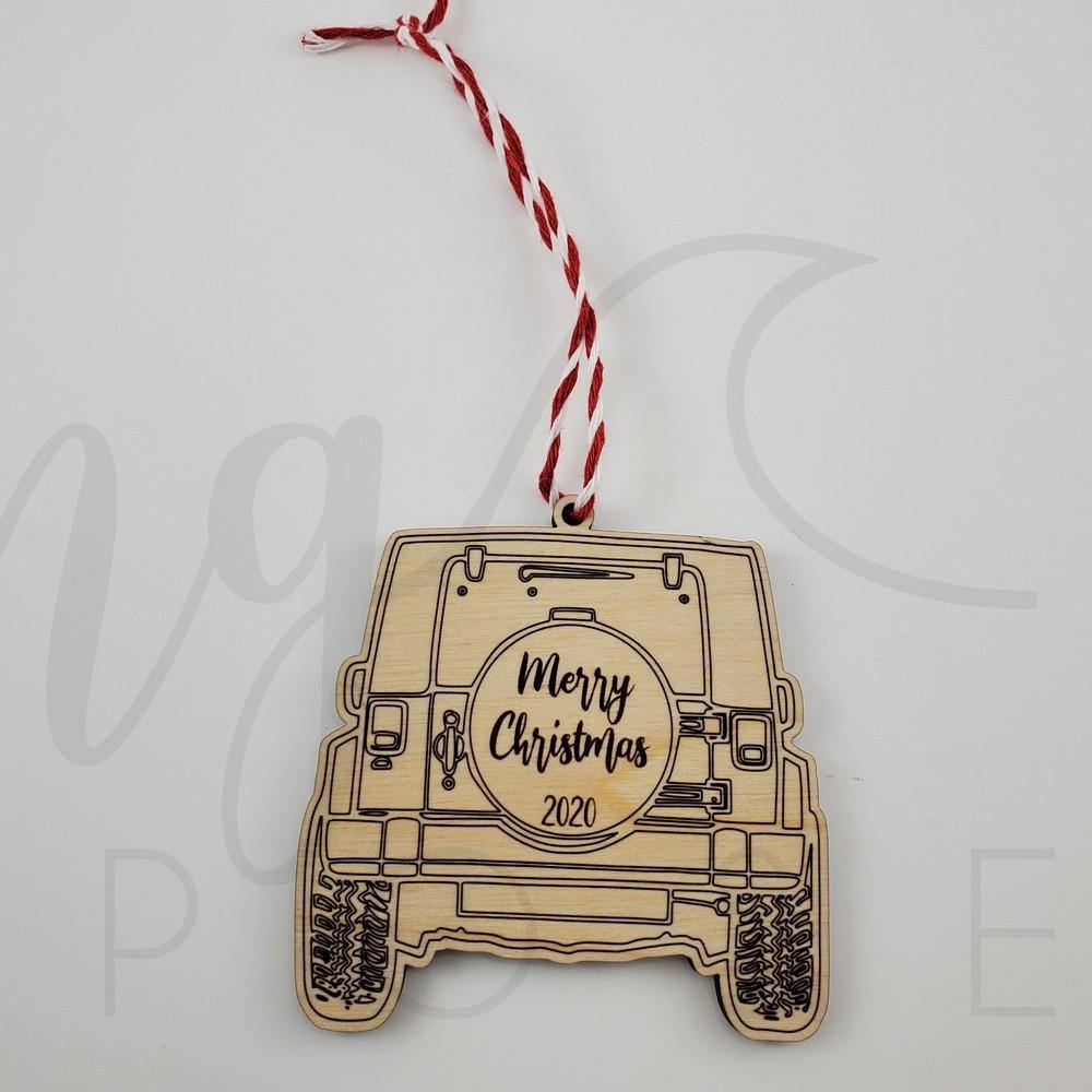 Merry Christmas Buggy Ornament - Drifting Purpose