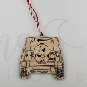 Just Married Buggy Ornament - Drifting Purpose
