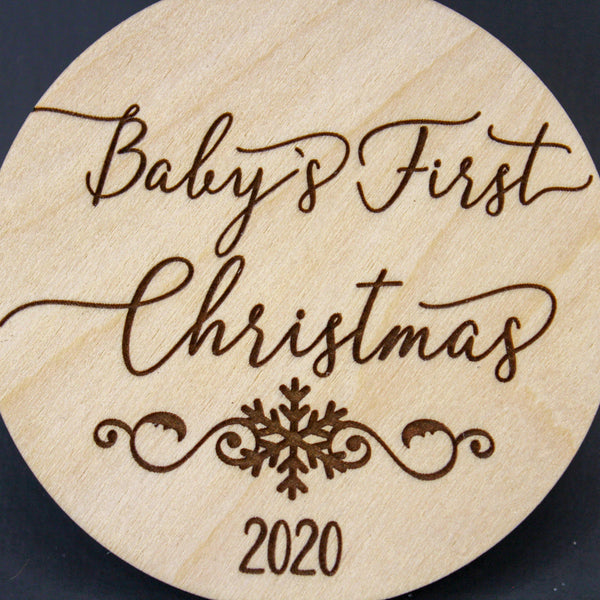 Personalized Baby's First Christmas - Drifting Purpose