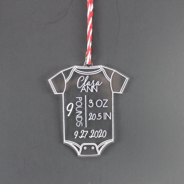 Acrylic Baby Announcement Ornament - Drifting Purpose