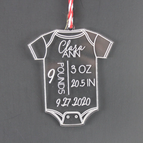 Acrylic Baby Announcement Ornament