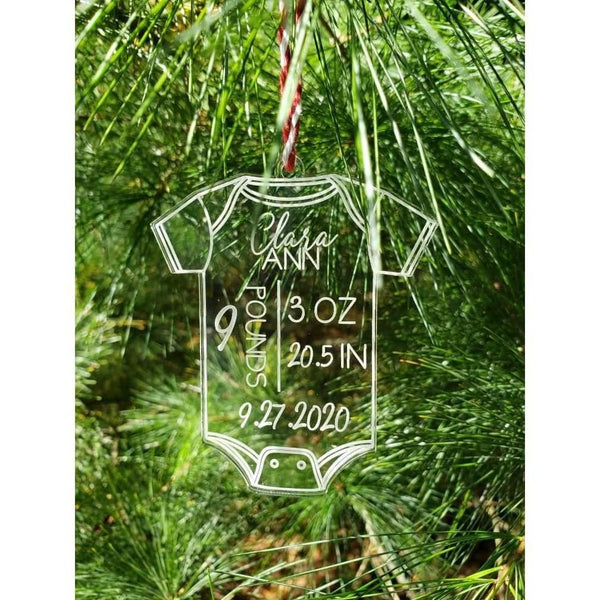 Baby Announcement Ornament Baby's First Christmas Ornament -