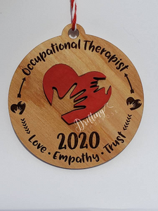 Occupational Therapist Red Heart Ornament - Drifting Purpose