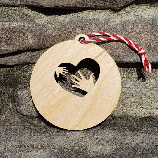 Occupational Therapist Hands in Heart Ornament - Drifting Purpose