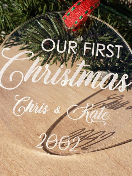 Our First Christmas; Personalized Our First Christmas