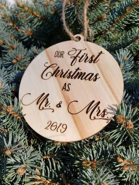 Our First Christmas Together  Ornament - Drifting Purpose