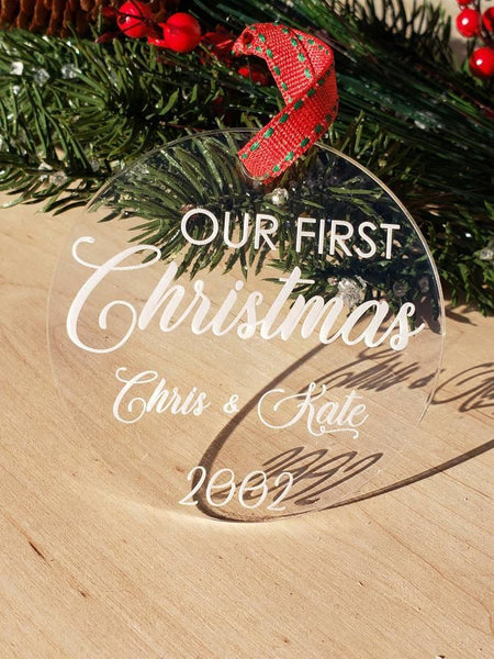 Our First Christmas; Personalized Our First Christmas - Drifting Purpose