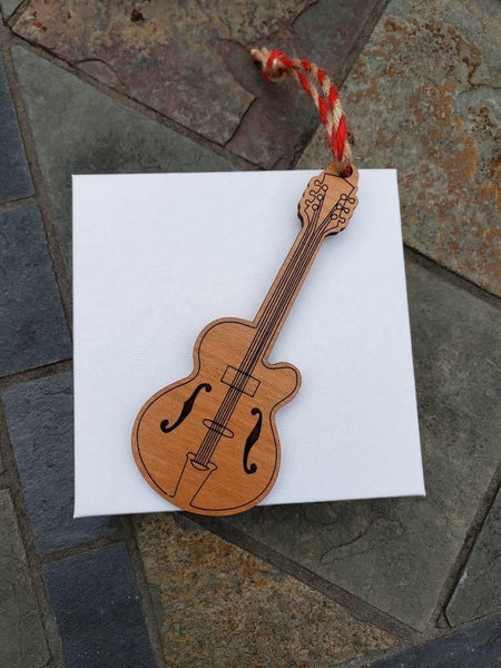 Wooden Guitar Ornament - Drifting Purpose