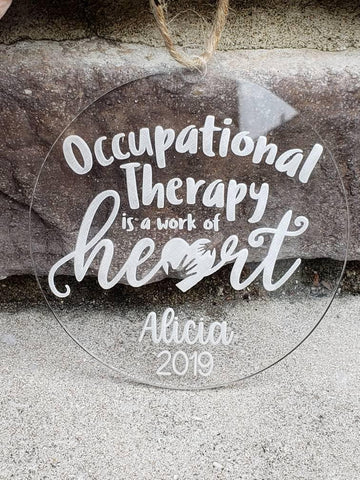 Occupational Therapist Ornament Gift, OT Ornament, OT Gift - Drifting Purpose