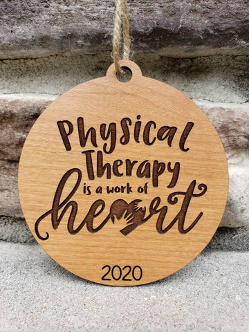 Physical Therapist Ornament Gift, PT Ornament, PT Gift - Drifting Purpose