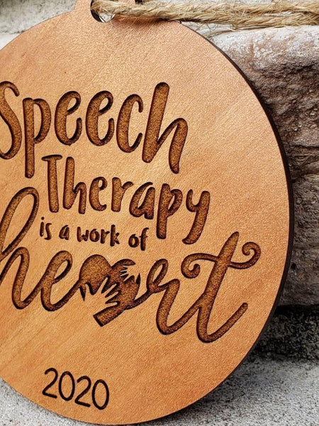 Speech Therapist or Teacher Ornament Gift, Speech Therapy Ornament - Drifting Purpose