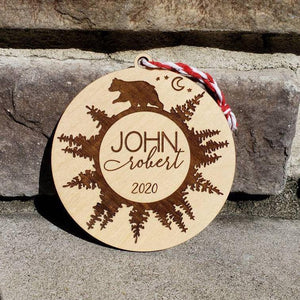 Personalized Baby or Child Name Bear 2020 Ornament - Drifting Purpose