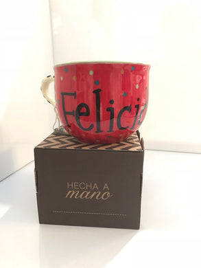 Tazota ,  Handcrafted Ceramic Piece ,  '' Felicidades ''  Make the moment extra especial with are quality mugs