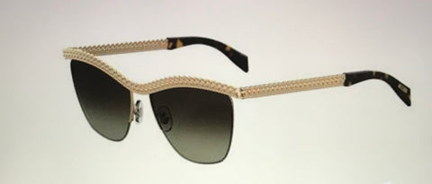 Moschino  Mos010   Gold Havana Brown Gradient Lens Sunglasses