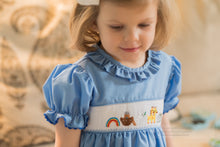 Load image into Gallery viewer, Noah's Ark Smocked Ruffle Dress