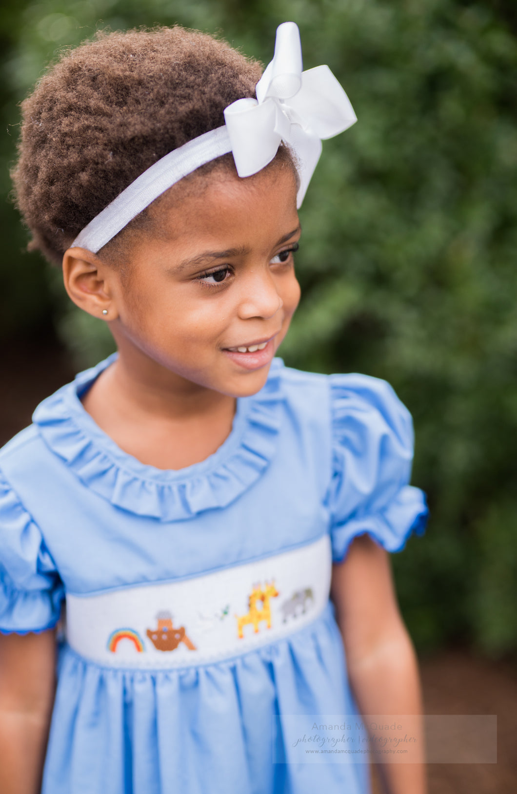 Noah's Ark Smocked Ruffle Dress