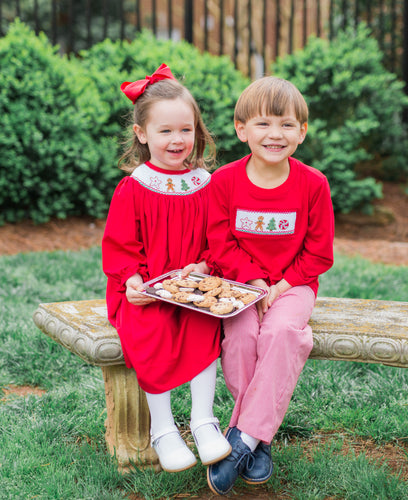 Smocked Christmas Cookie Long Sleeve Shirt