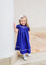 Load image into Gallery viewer, Oh Holy Night! Smocked Nativity Bishop Dress