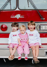 Load image into Gallery viewer, Firetruck Long Sleeve Shirt and Short Set