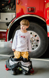 Firetruck Long Sleeve Shirt and Short Set