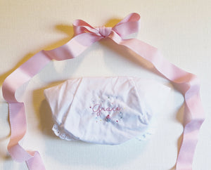 "Hand Embroidered Celebration Cupcake Bloomers ""Happy Birthday"""