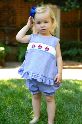 Sailboat Bow Back Bloomer Set