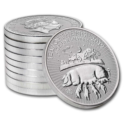 2019 1 oz Royal Mint Silver Lunar Pig