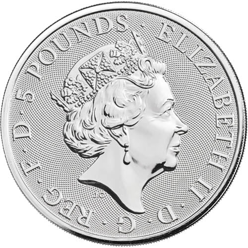 UK QB Silver White Lion 2 oz 2020