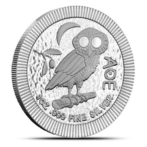 2020 $2 1 oz Niue Owl AG Coin Stackable