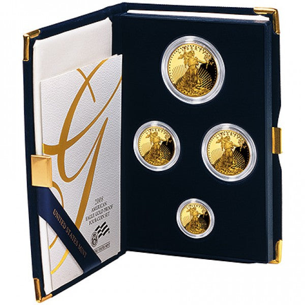 Gold American Eagle Proof 4pc Set