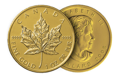Gold Canadian Maple Leaf 1 oz