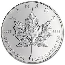 Palladium Canadian Maple Leaf 1 oz