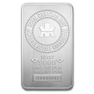Royal Canadian Mint Silver Bar 10 oz