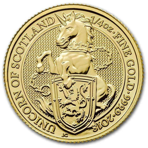 UK QB Gold Unicorn 1/4 oz 2018