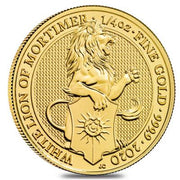 UK QB Gold White Lion 1/4 oz 2020