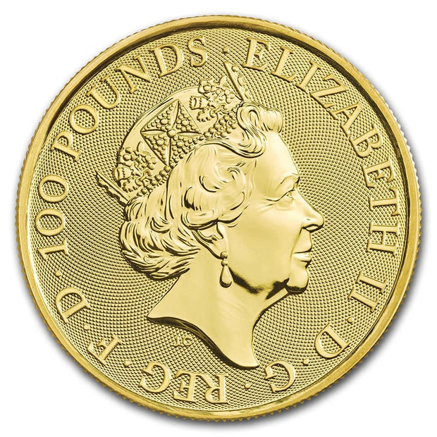 UK QB Gold White Lion 1 oz 2020