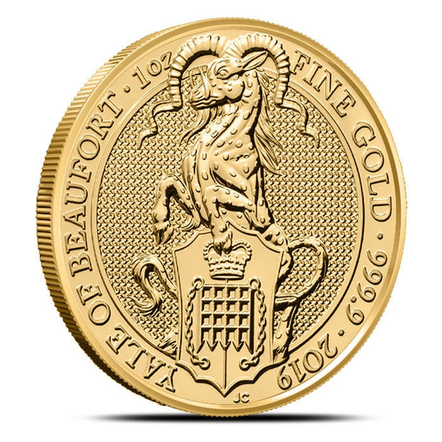 UK QB Gold Yale of Beaufort 1 oz 2019
