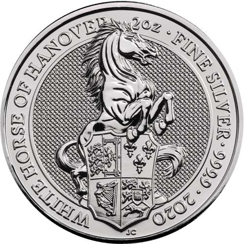 UK QB Silver White Horse 2 oz 2020