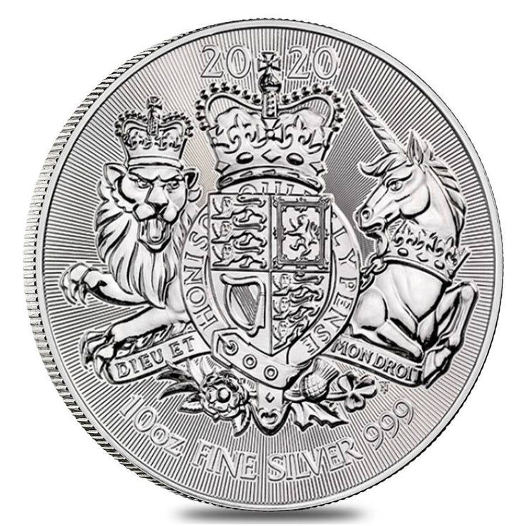 UK Silver Royal Arms 10 oz 2020