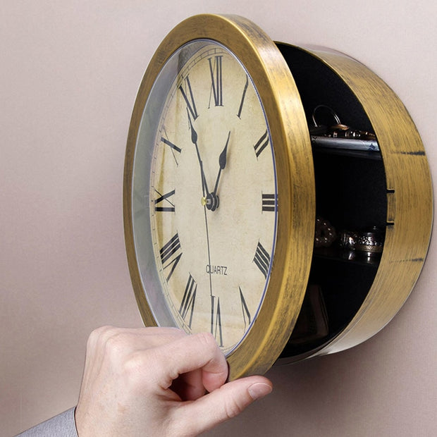 Wall Clock Security Safe
