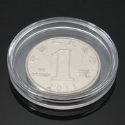 10pcs Small Round Transparent Plastic Coin Holder Box Available 30cm - 40cm