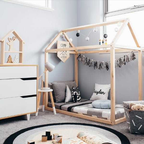 Big kids bed with house frame