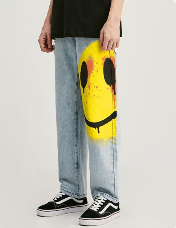 Smile Face Denim Trousers