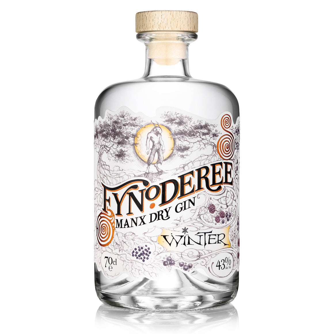 CURRENT SEASON - Fynoderee Manx Dry Gin - Winter Edition